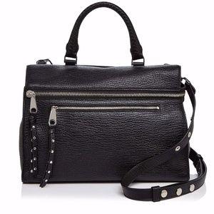 New Jane Black Leather Satchel